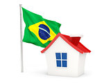 House with flag of brazil