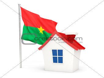 House with flag of burkina faso