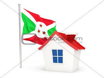 House with flag of burundi