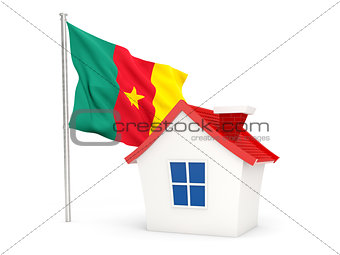 House with flag of cameroon