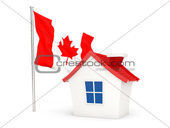 House with flag of canada