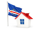 House with flag of cape verde