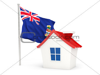 House with flag of cayman islands