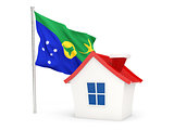 House with flag of christmas island