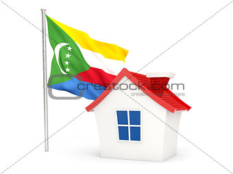 House with flag of comoros