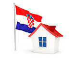 House with flag of croatia