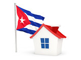 House with flag of cuba