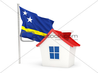 House with flag of curacao