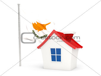 House with flag of cyprus