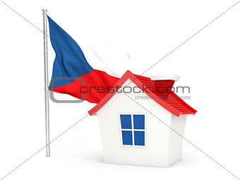 House with flag of czech republic