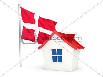 House with flag of denmark