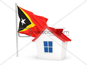 House with flag of east timor