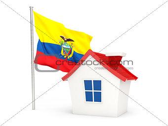 House with flag of ecuador