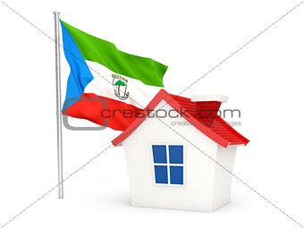 House with flag of equatorial guinea