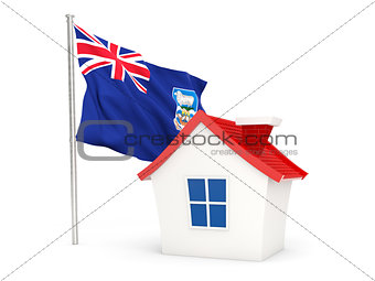 House with flag of falkland islands