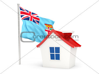 House with flag of fiji