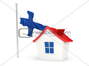 House with flag of finland