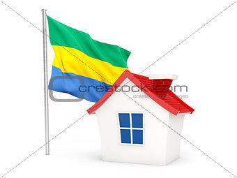 House with flag of gabon