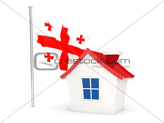 House with flag of georgia