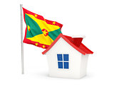 House with flag of grenada