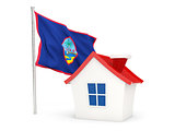 House with flag of guam