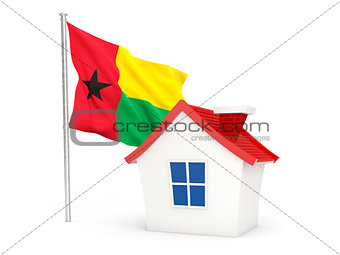 House with flag of guinea bissau
