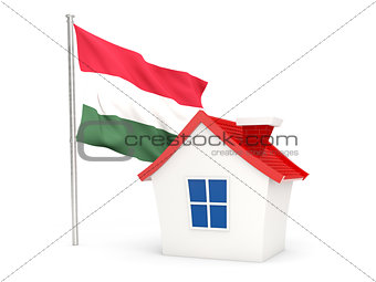 House with flag of hungary