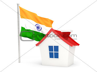 House with flag of india