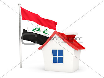 House with flag of iraq