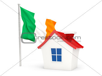 House with flag of ireland