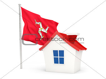 House with flag of isle of man
