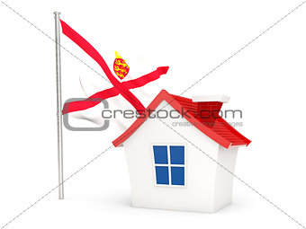 House with flag of jersey
