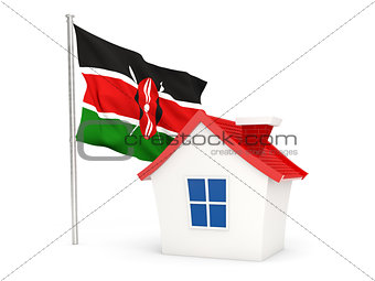 House with flag of kenya