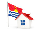 House with flag of kiribati