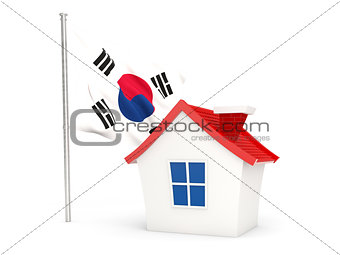 House with flag of korea south
