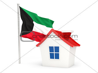 House with flag of kuwait