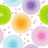 Seamless pattern with japanese umbrellas