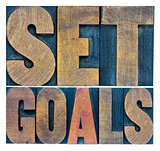 set goals typography abstract