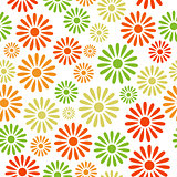 Various colorful flowers seamless pattern