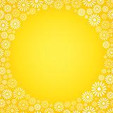 Various flower frame background