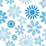 Various flowers seamless pattern