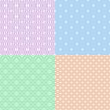 Colorful polka dot seamless pattern