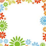 Various flowers frame