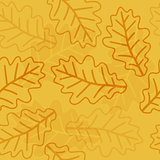 Seamless oak leaves pattern