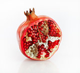 Half of pomegranate