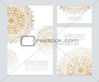 Corporate identity with floral ornaments