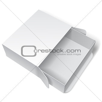 Blank White Package Box