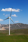 Wind turbine at nice spring day