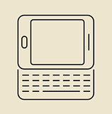 Cell phone icon. Thin line.