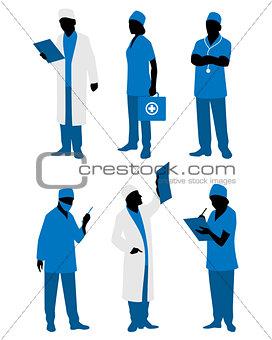 Six doctors in uniform